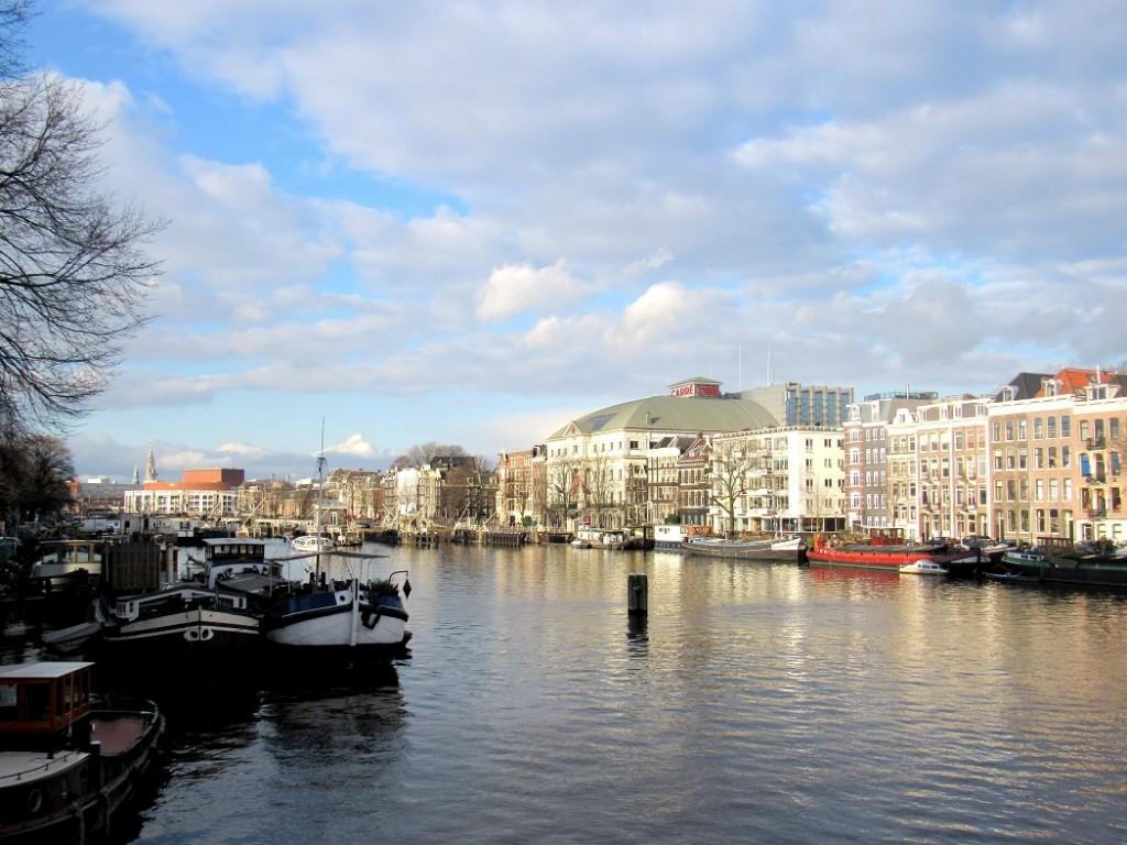 jolie vue lors d'un tour en péniche à amsterdam