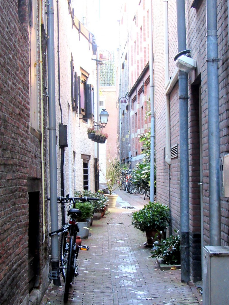 Une jolie ruelle en brique à amsterdam