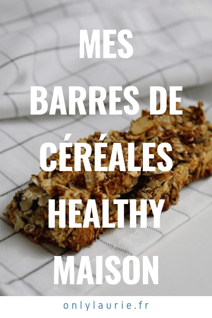 Mes barres de céréales healthy maison au amandes et au chocolat. Recette saine pour un petit déjeuner équilibré.