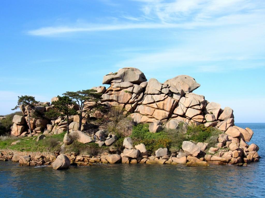 côte de granite à perros guirrec et ploumanach en Bretagne