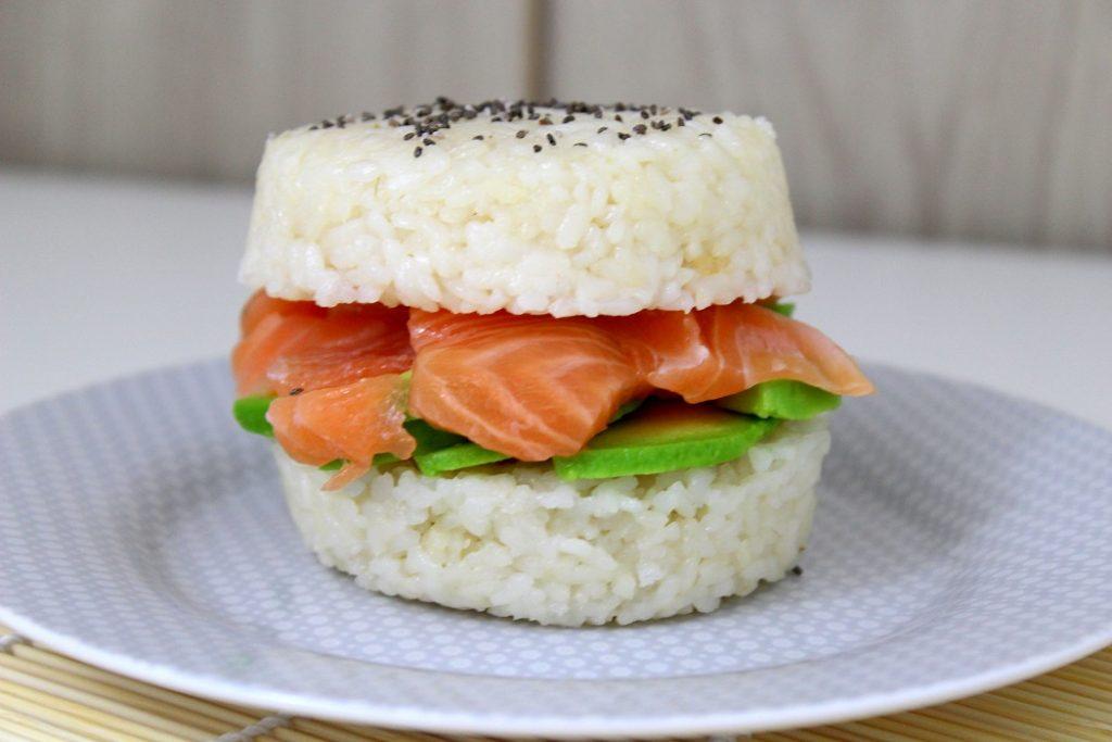 burger-sushis, recette healthy et facile à faire.