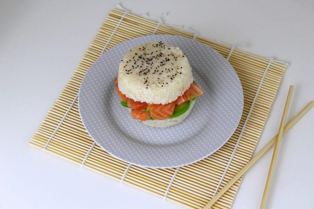 recette de burger sushis facile et rapide.