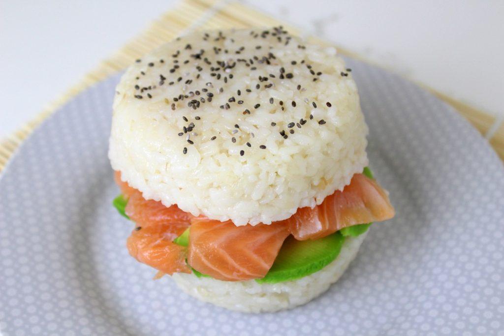recette de sushis-burger healthy et facile à faire.