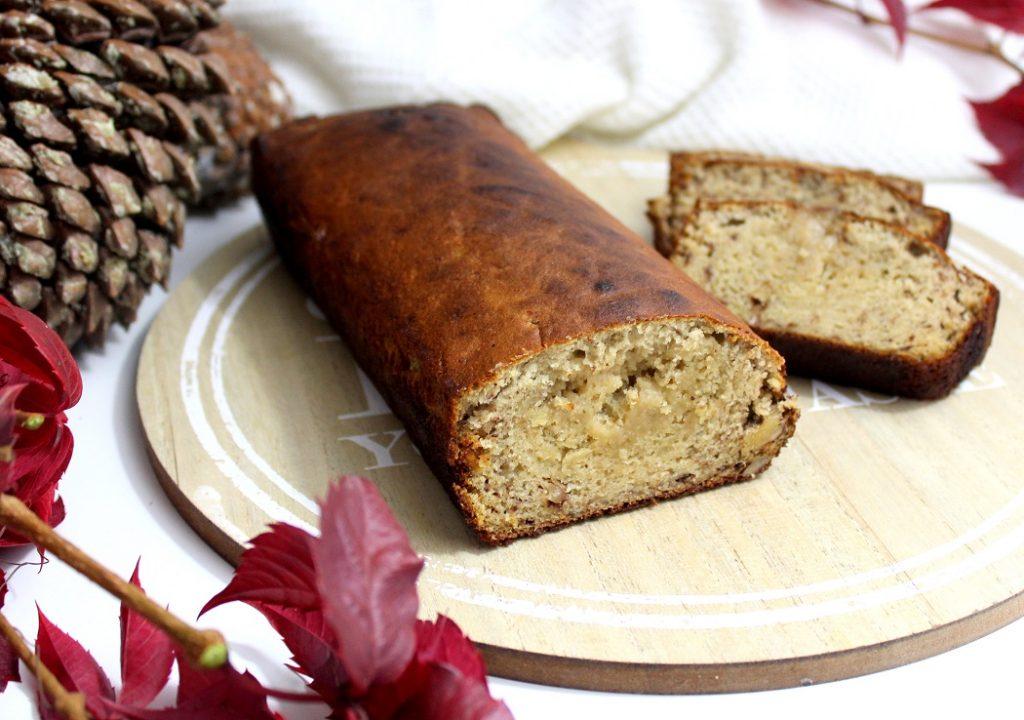 Recette de banana bread facile à faire. Recette avec 2 œufs parfaite pour le petit déjeuner.