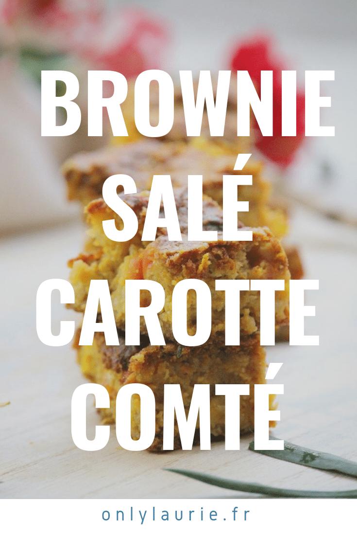 Brownie salé carotte comté only laurie