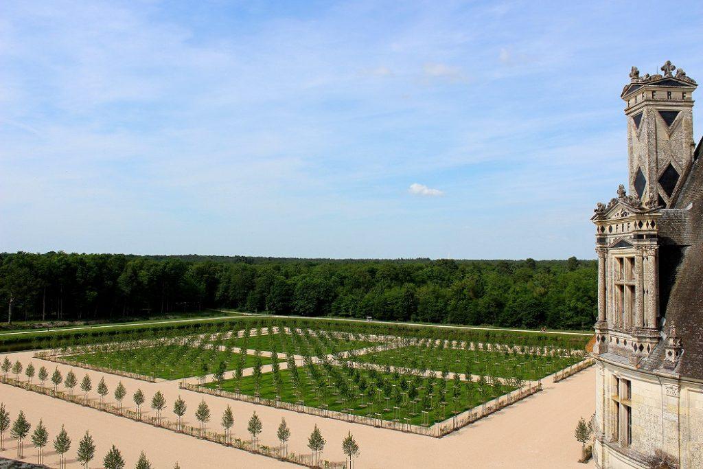 Les jardins du château de Chambord.