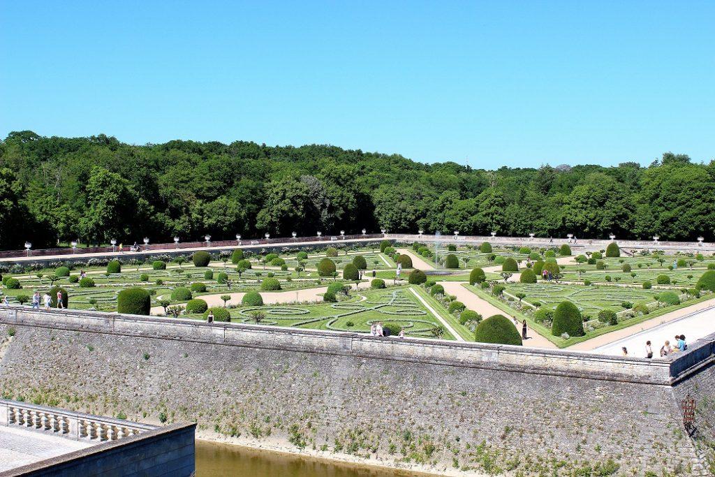 Jardin de Diane de Poitiers au château de Chenonceau.