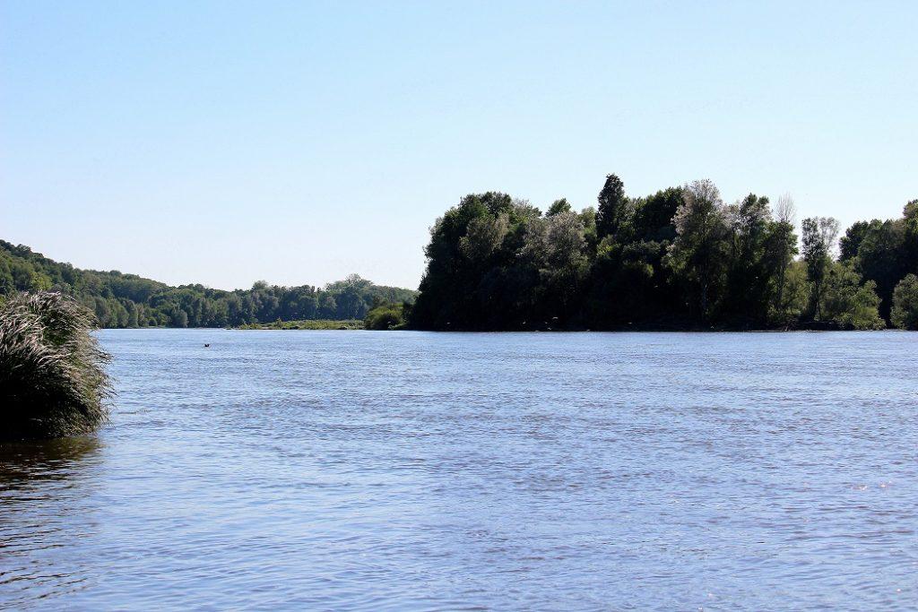Vue sur la Loire pour un week-end reposant.