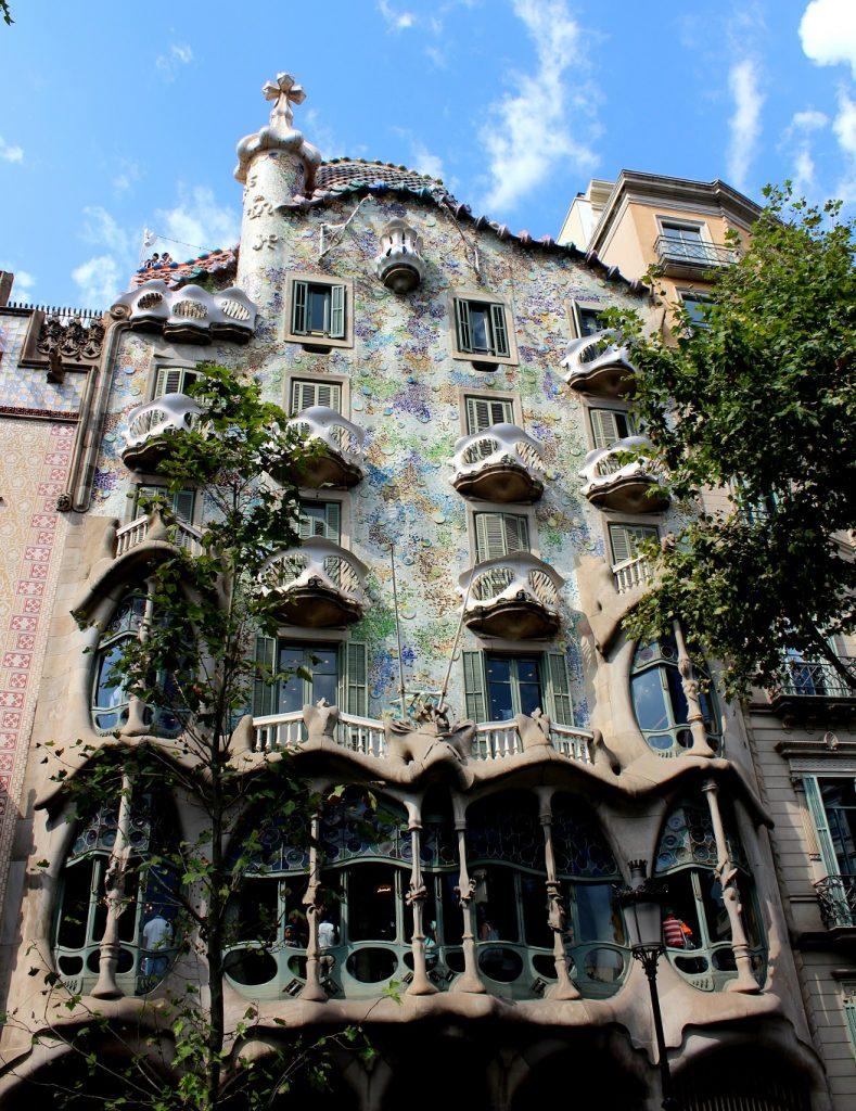 Casa Batllo de Gaudi à Barcelone.