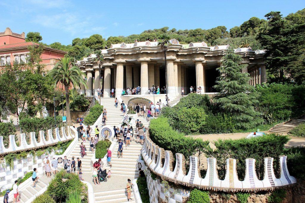 Parc Guell de Gaudi à Barcelone.
