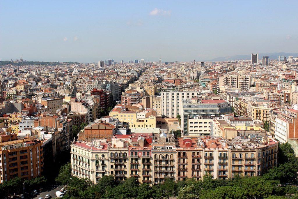 Vue sur Barcelone depuis la Sagrada familia.