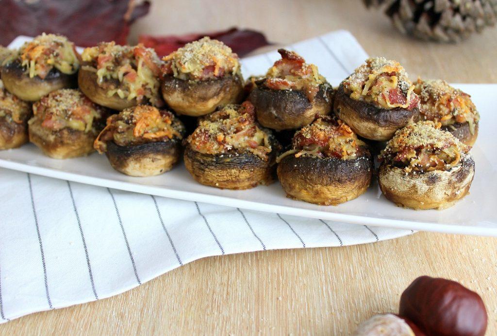 Recette de champignons farcis. Une recette gourmande et facile à faire.