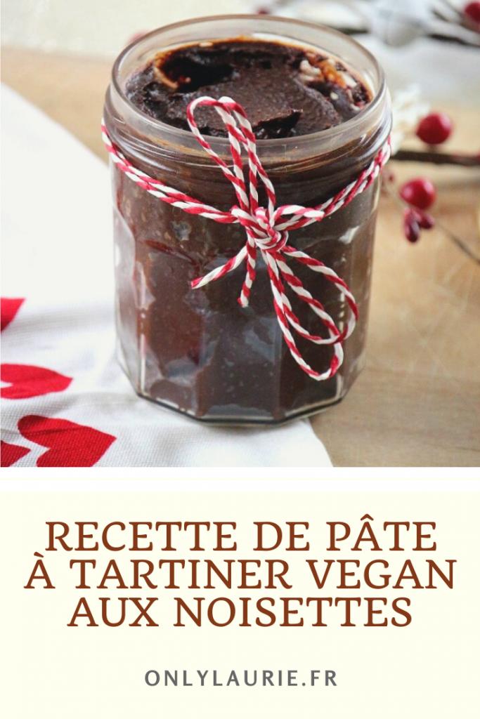 Recette de pâte à tartiner vegan. Une alternative healty sans huile de palme.