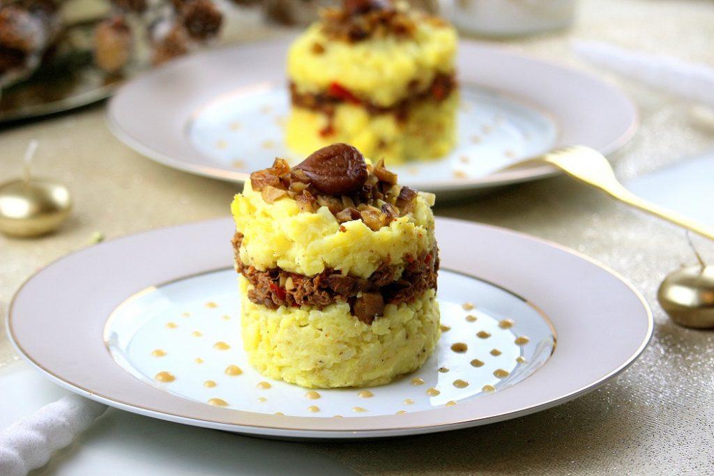 Recette de parmentier de canard aux marrons. Une recette chic, gourmande et facile à faire.