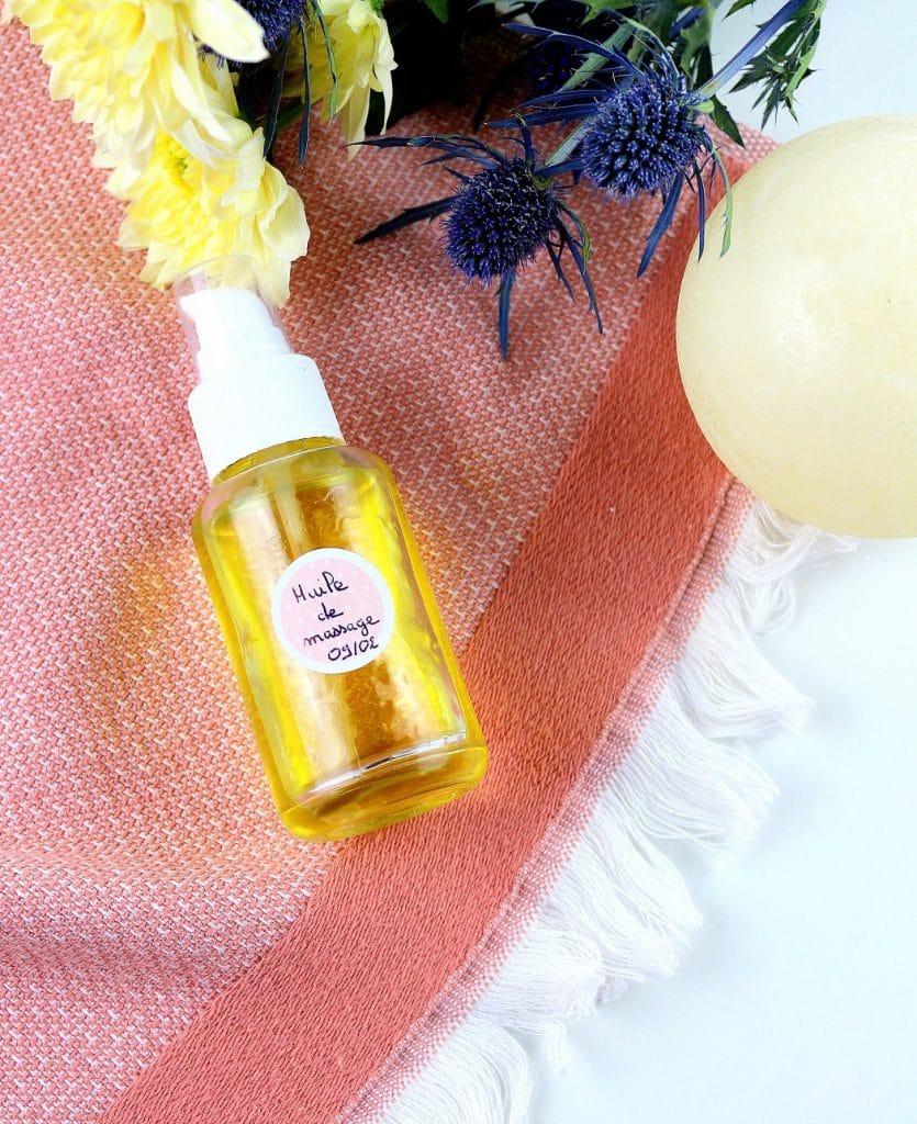 recette huile de massage maison naturelle - only laurie