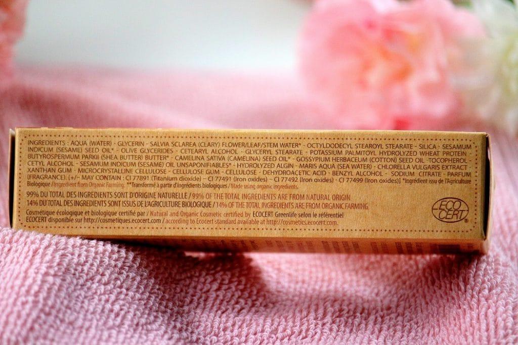 composition fond de teint bio hydracoton couleur caramel