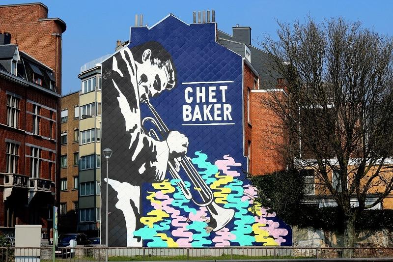Street art dans la ville de Liège en Belgique.