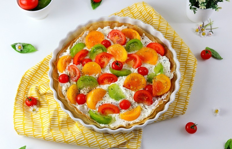 tarte aux tomates - only laurie