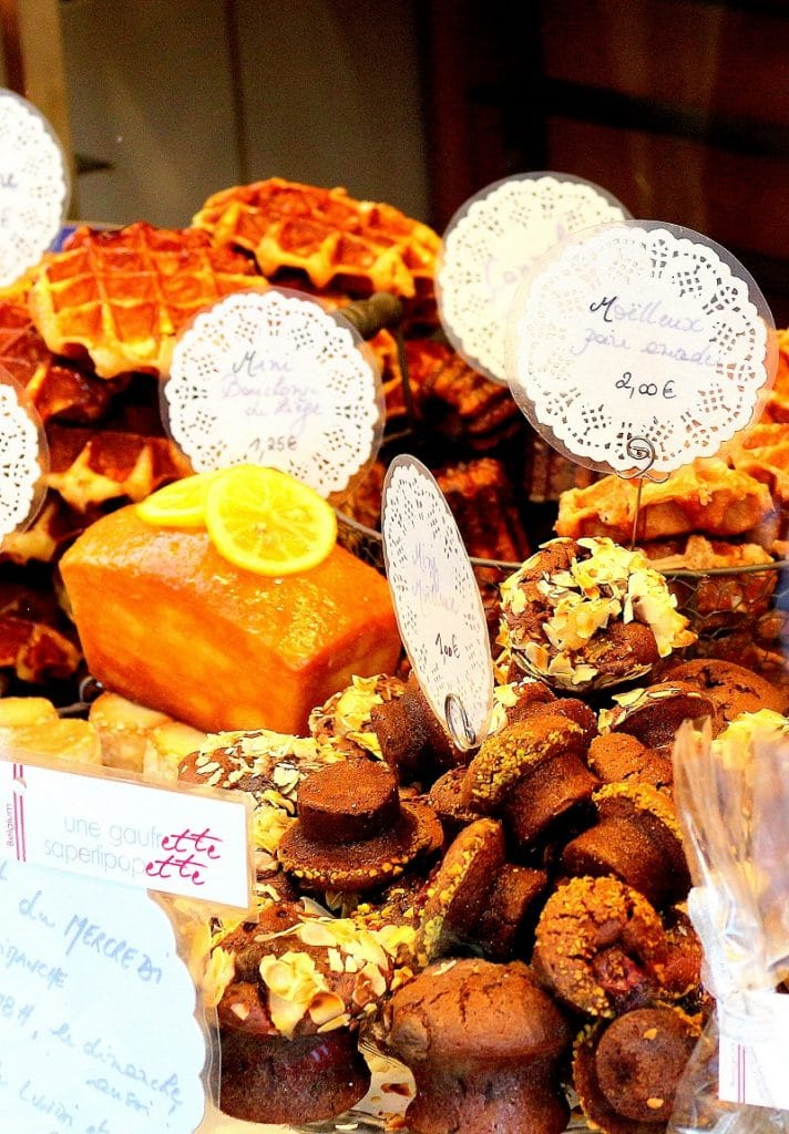 Magasin une gaufrette saperlipopette à Liège avec de délicieuses gaufres liégeoises.