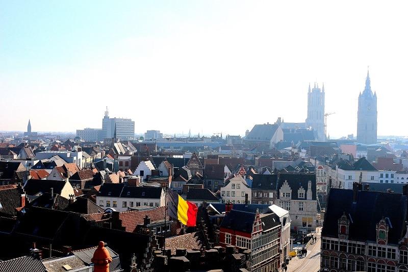 Vue sur Gand depuis le chateau des comtes de Flandres.