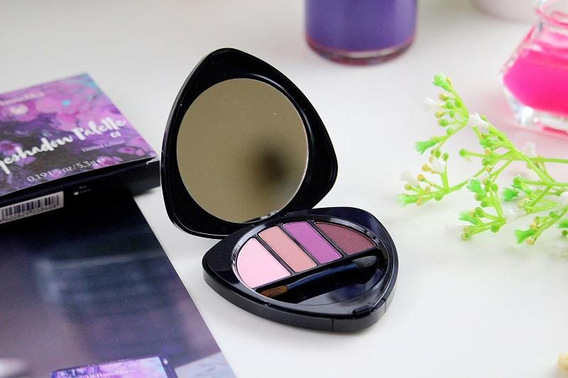 Palette de fards à paupières bio de la collection purple light de chez dr hauschka.