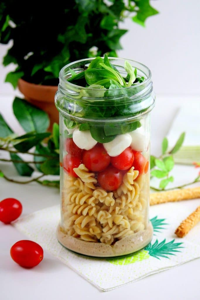 salad in a jar végétarienne only laurie