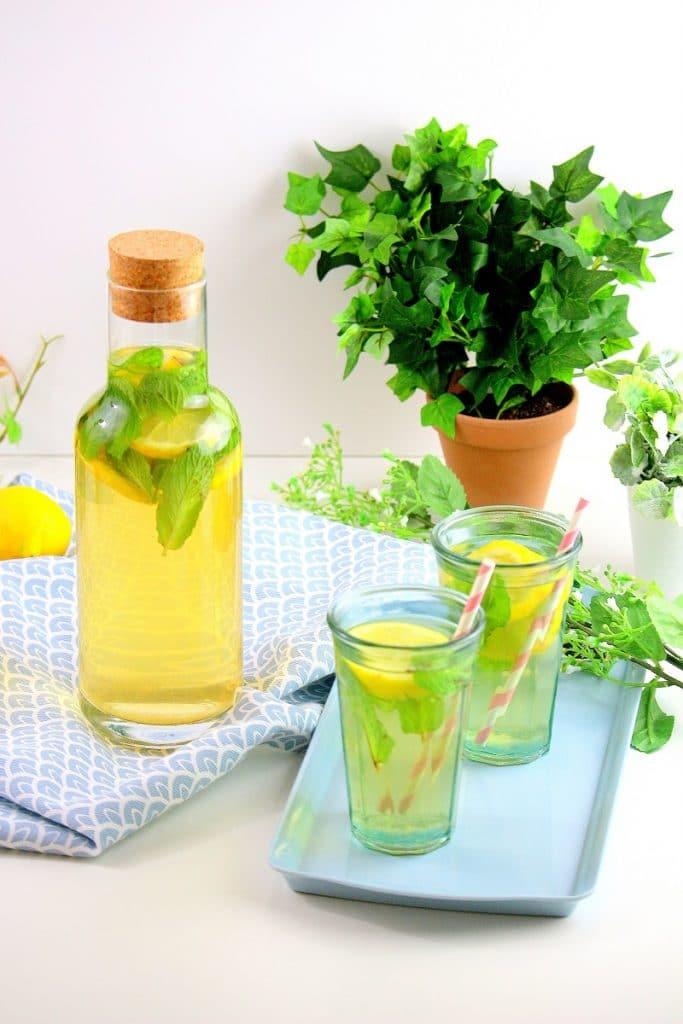 thé glacé citron menthe only laurie