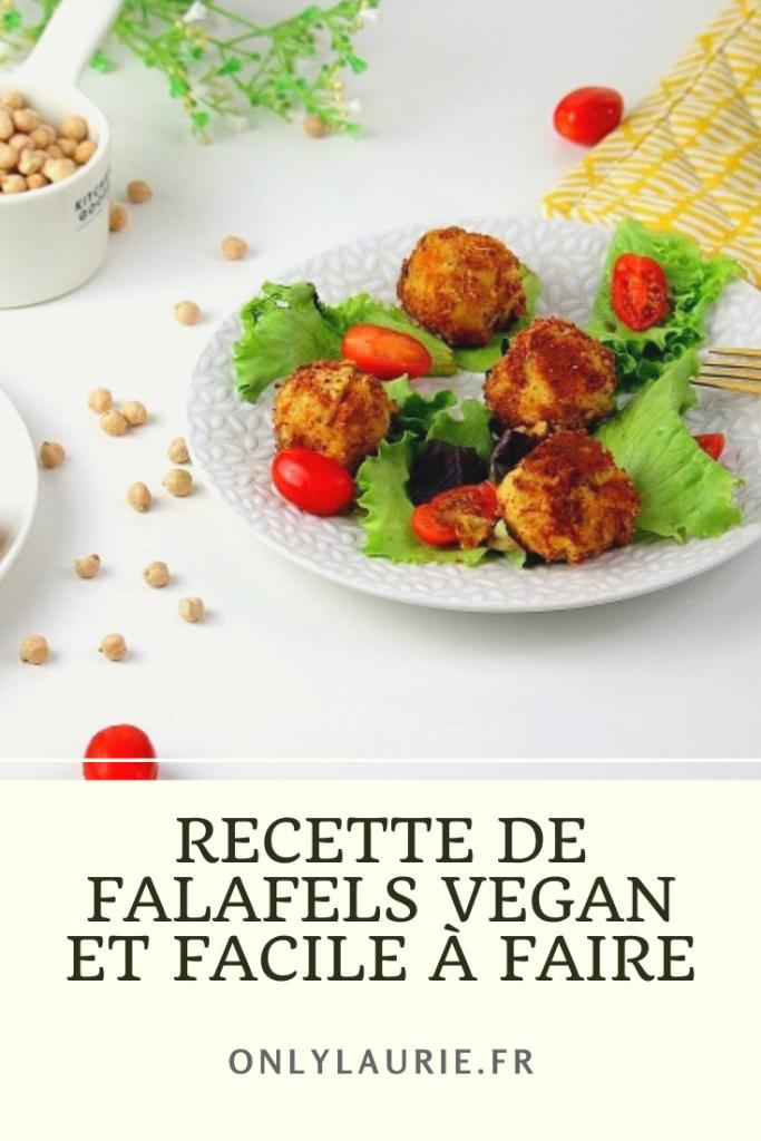 Recette de falafels vegan facile à faire. Parfait avec une salade.