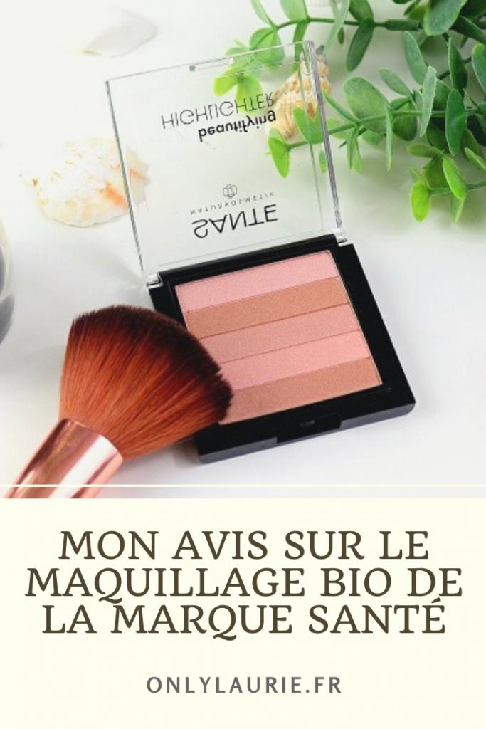 Mon avis sur le maquillage bio de la marque Santé. Un maquillage lumineux et naturel.