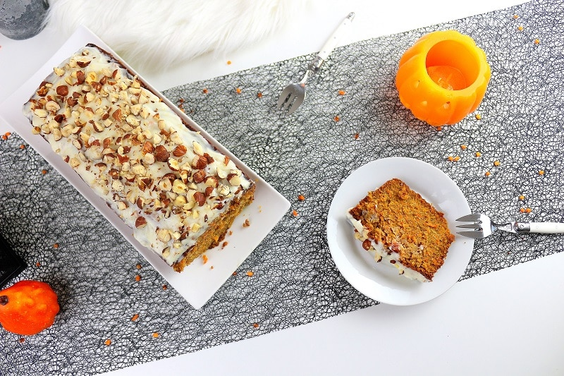 carrot cake moelleux et gourmand pour Halloween only laurie