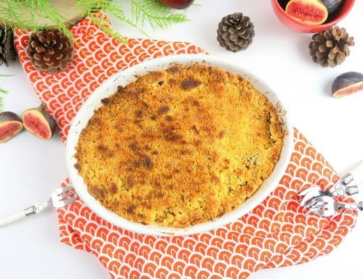 crumble pommes figues only laurie