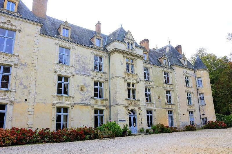 château du domaine de Villeray en Normandie.