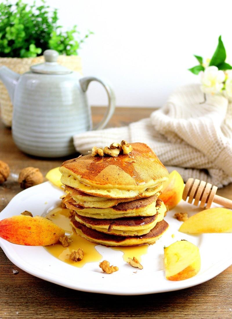 Recette de pancakes healthy et facile à faire.