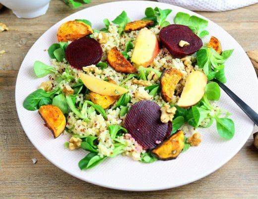 Salade tiède de quinoa, patate douce et betterave only laurie