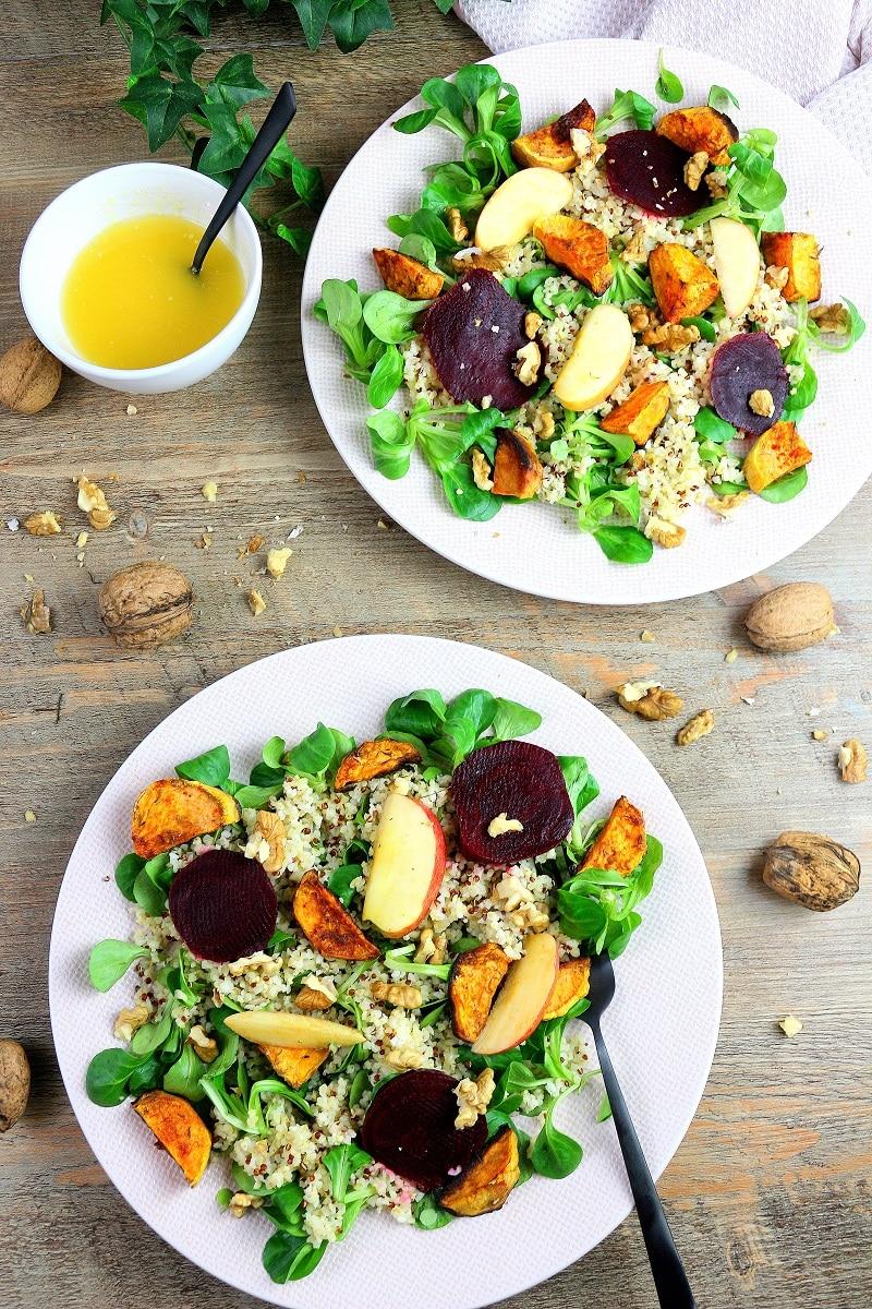 Recette de salade d'hiver végétarienne. Healthy et facile à faire.