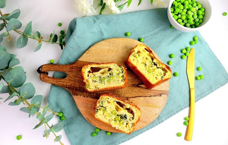 Recette de cake salé healthy et végétarien.