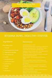 Fiche recette pour réaliser un buddha bowl healthy.