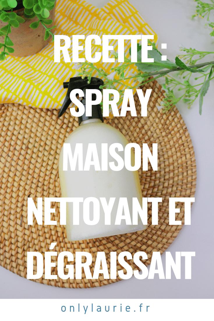Spray maison nettoyant et dégraissant. Un DIY facile, écologique et zéro déchet.