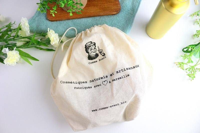 pochon coton bio comme avant only laurie