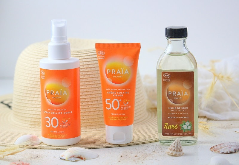 produits solaires praia only laurie