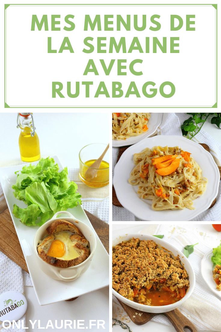 Mes menus végétarien de la semaine avec Rutabago.