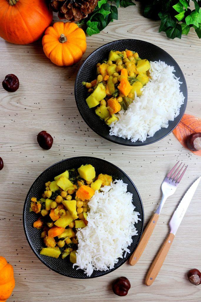 Recette d'un curry végétarien, une recette saine et facile à faire.