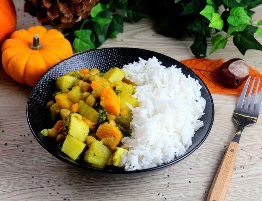 Curry vegan parfait pour l'automne. Une recette healthy et réconfortante.