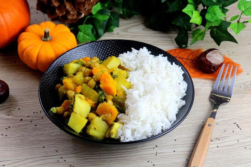 Curry végétarien aux légumes d'automne. Une recette facile et saine.