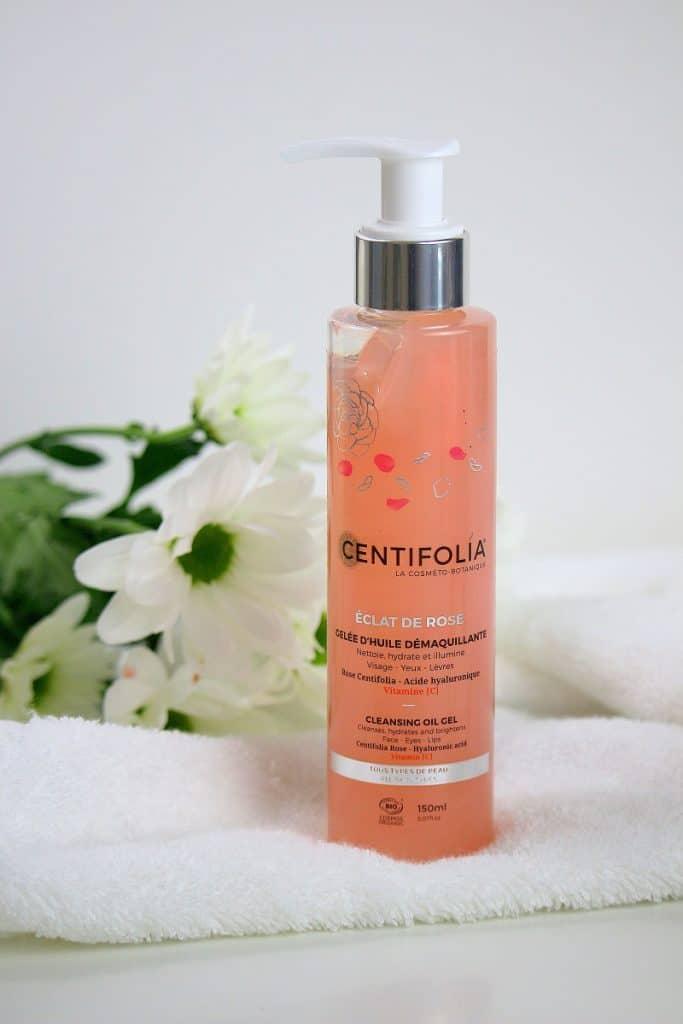 Gelée d'huile démaquillante Centifolia, certifiée bio, parfaite pour les peaux sensibles.