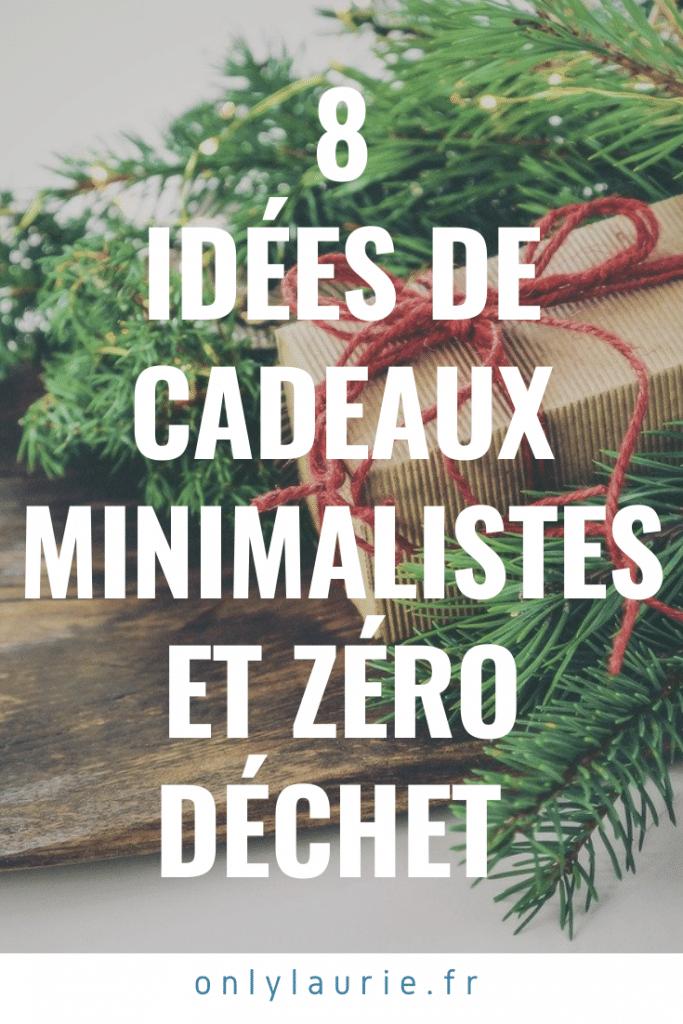 8 idées de cadeaux de Noël minimalistes et zéro déchet.