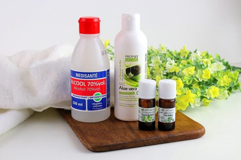 Ingrédients pour faire son gel hydroalcoolique maison