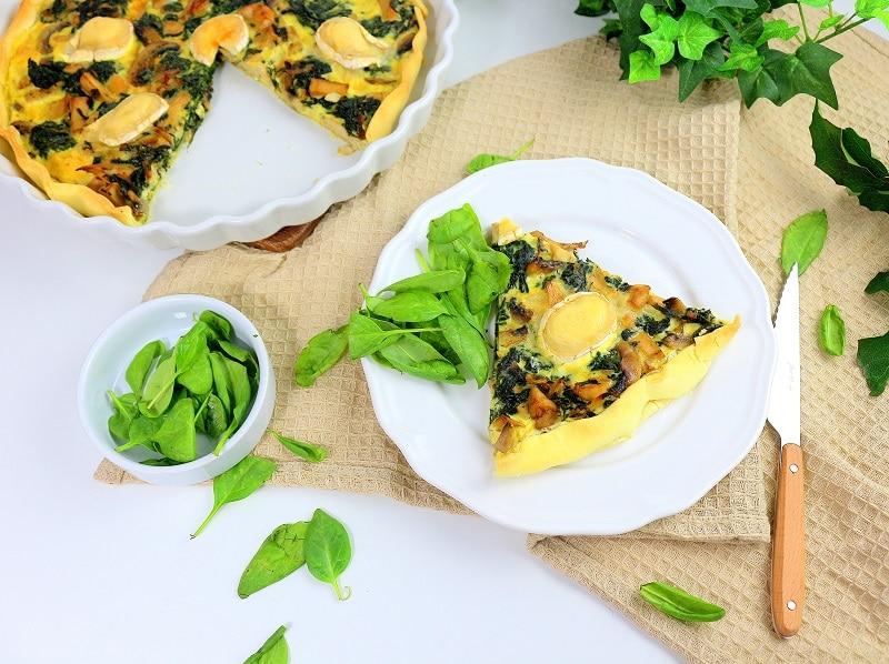 Recette de tarte végétarienne au tofu fumé. Recette facile et healthy.