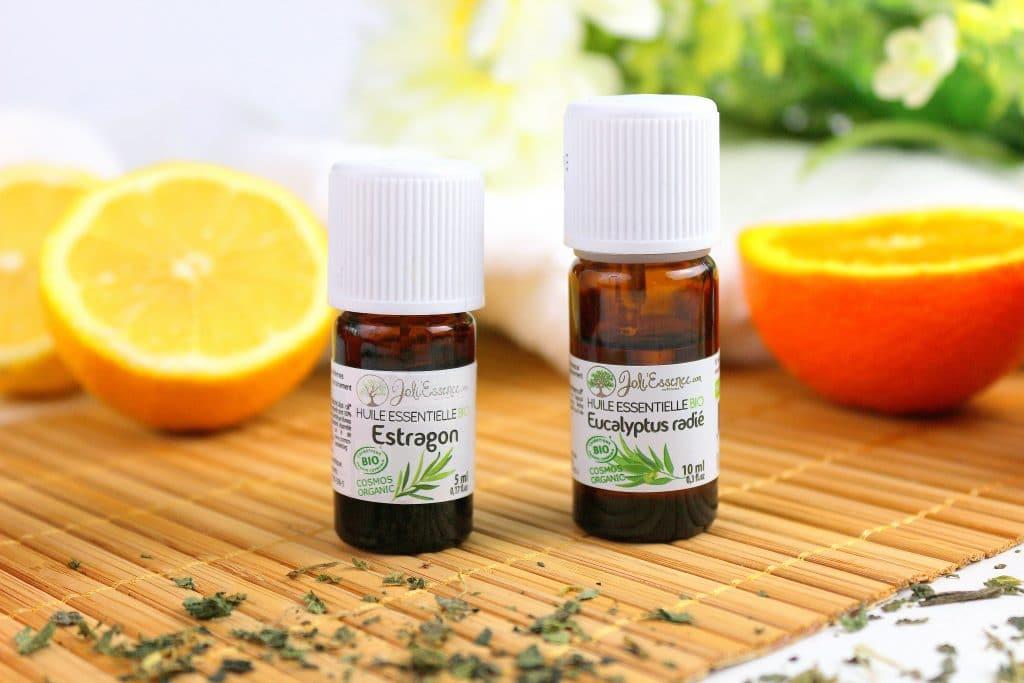 L'huile essentielle d'estragon et d'eucalyptus radié pour soulager les allergies saisonnières dû au pollen.