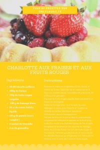 Fiche recette pour faire une charlotte aux fraises et aux fruits rouges. Recette healthy et facile à faire.